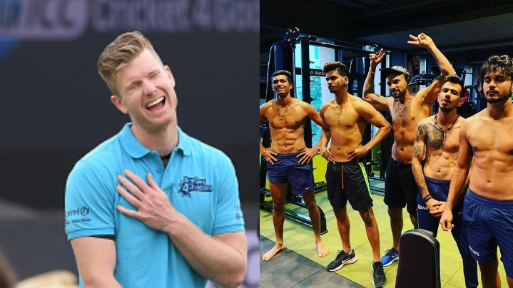 Jimmy Neesham drops a hilarious reply on Chahal, Iyer, Pandey and Saini flaunting their abs