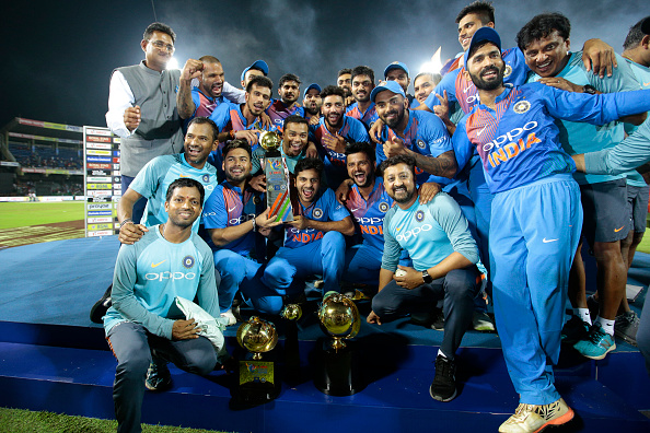 Team India are currently placed at third spot in ICC T20I rankings | Getty