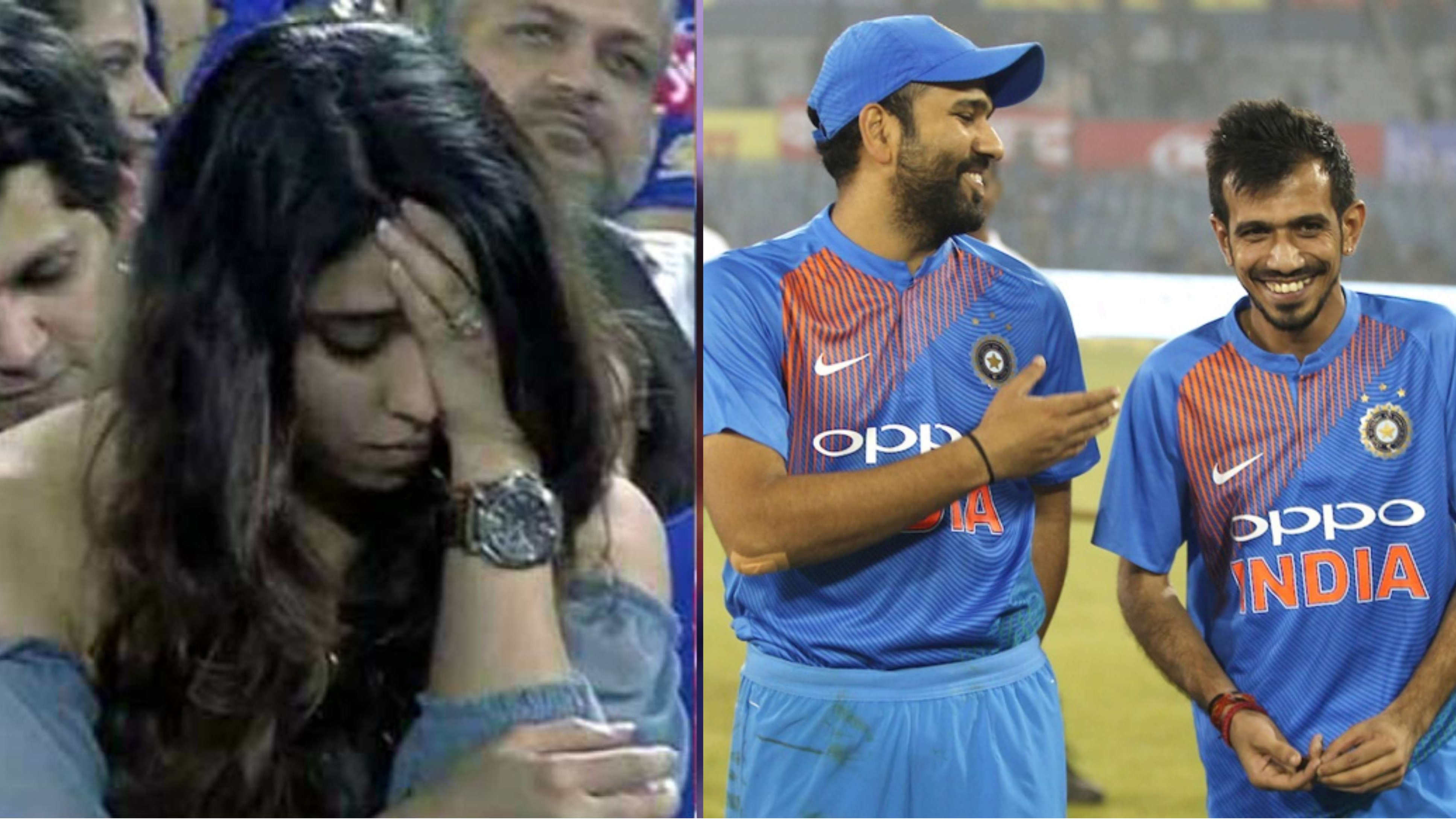 Bromance between Rohit Sharma and Yuzvendra Chahal makes Ritika Sajdeh feel insecure