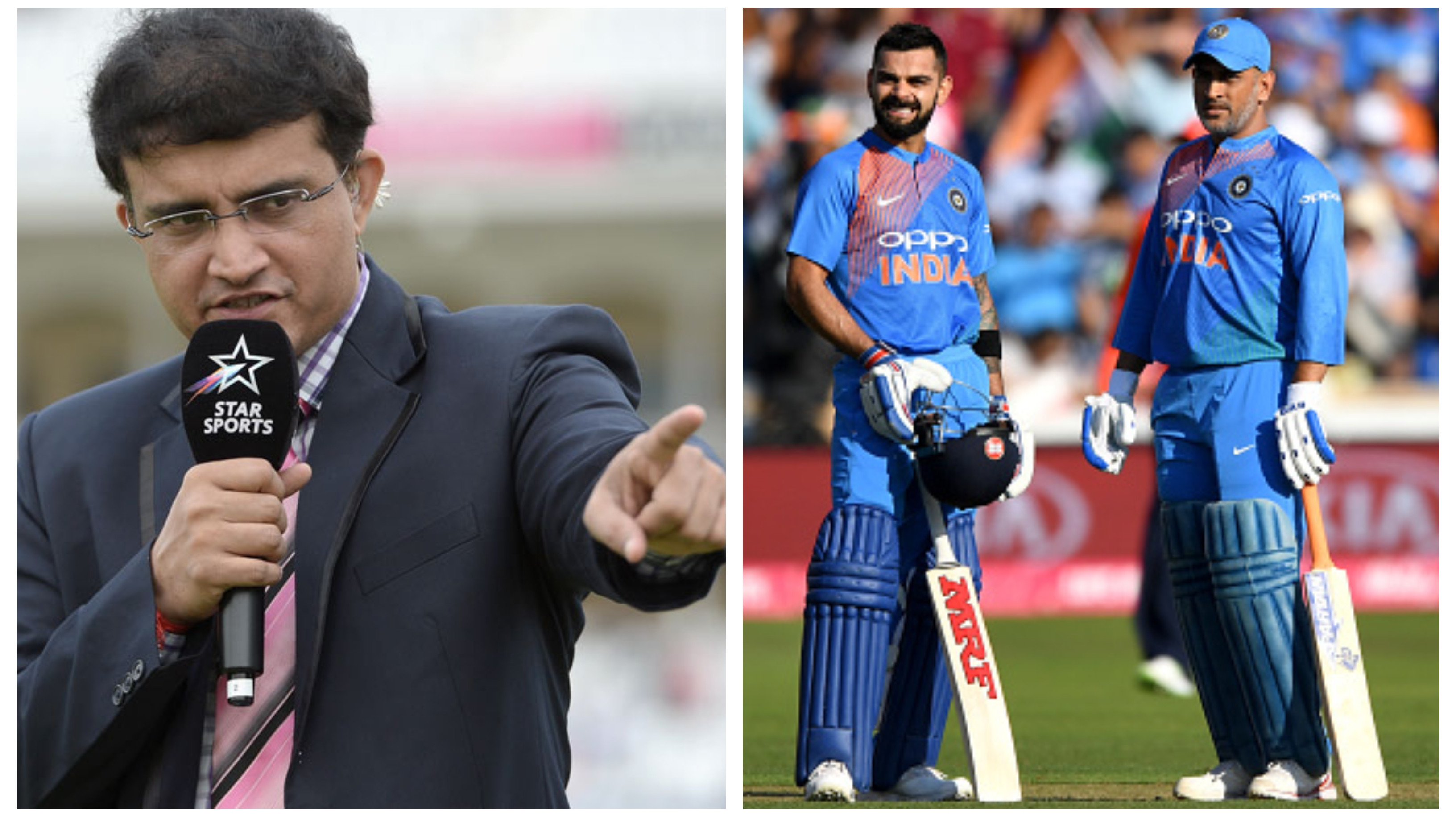 "AUS v IND 2018-19: ""I admire Kohli for not abandoning Dhoni in the last 15-16 months."" Says Sourav Ganguly"