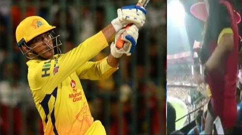 IPL 2018: Watch – Girl switches support to CSK when MS Dhoni walks out to bat; removes RCB jersey