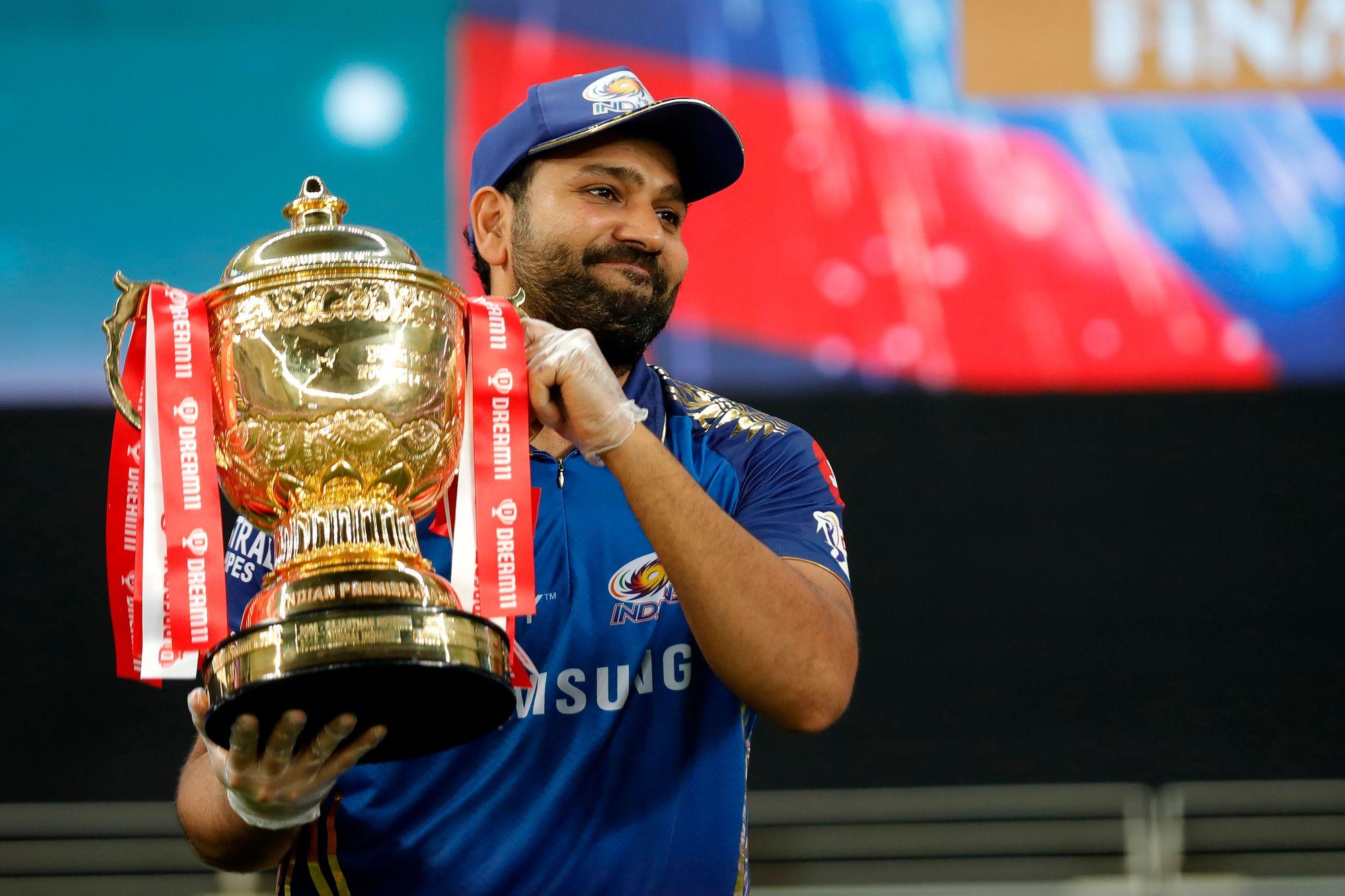 Rohit Sharma lifts his fifth IPL trophy for MI | BCCI/IPL