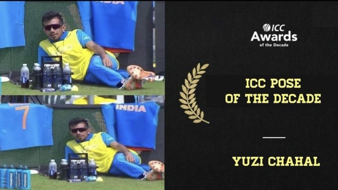 """Yuzvendra Chahal says thanks after getting the """"ICC pose of the decade"""" award for his 2019 WC photo"""