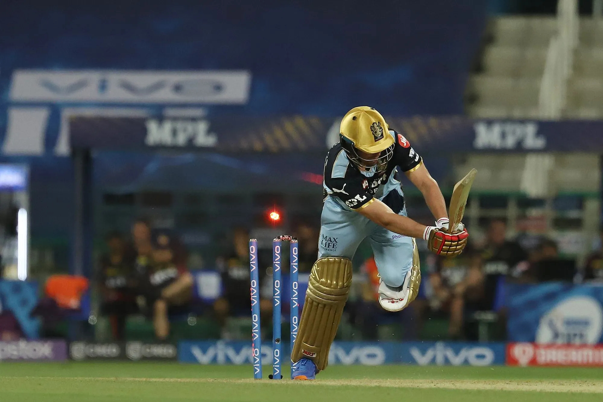 AB de Villiers was bowled for a golden duck as RCB managed just 92 runs | BCCI-IPL