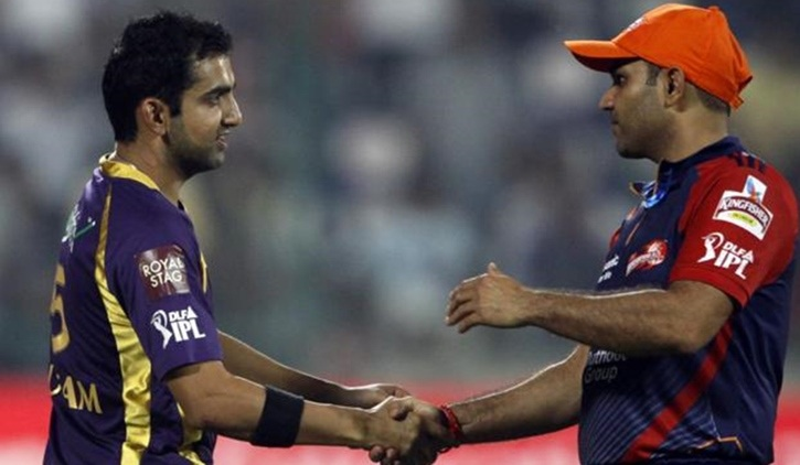 Sehwag talked about KKR not retaining Gambhir for IPL 2018