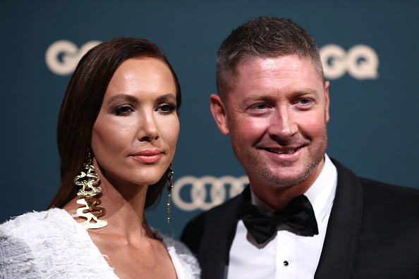 Michael Clarke with his divorced wife Kyly Boldy | Getty