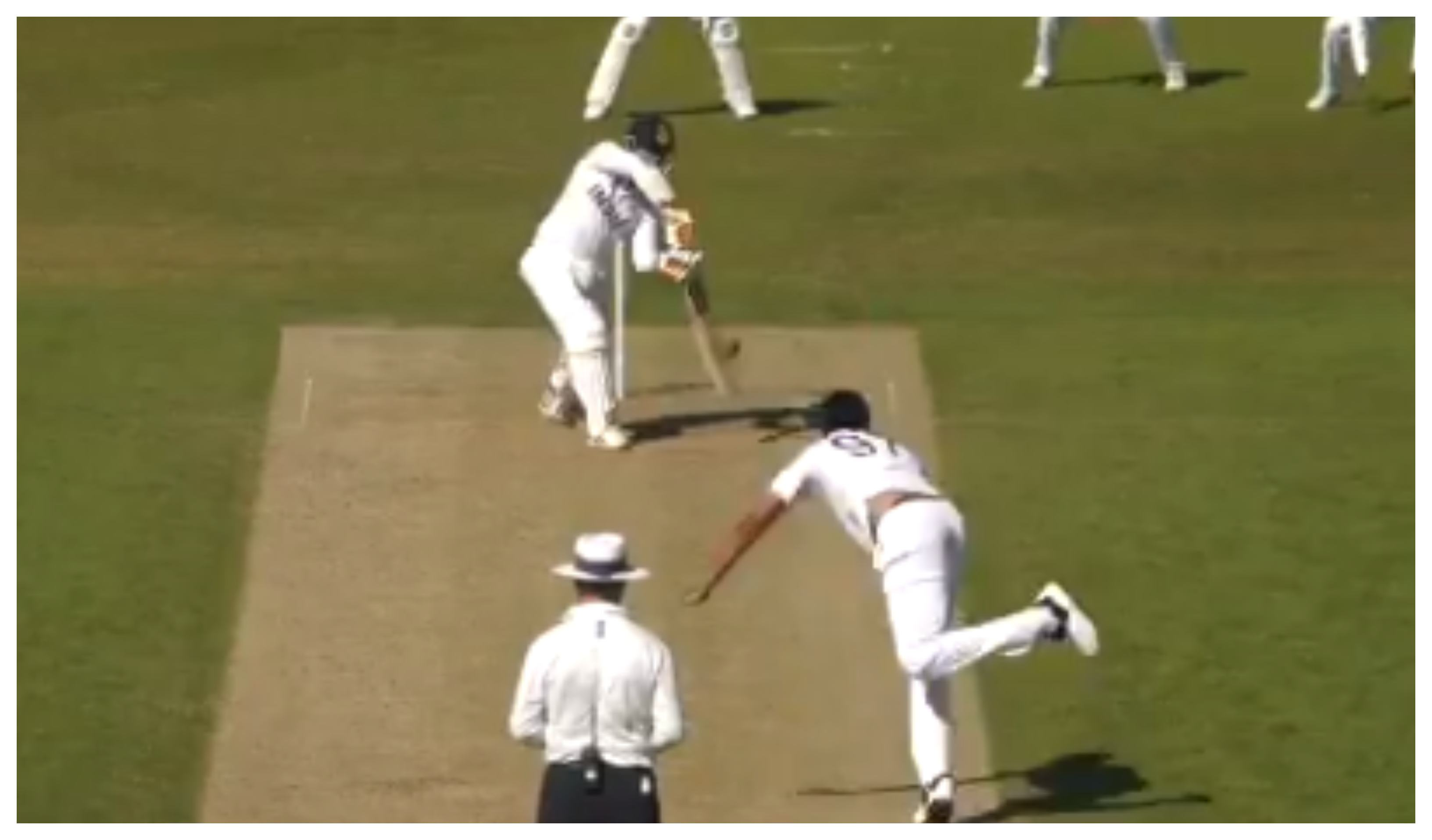 Ravindra Jadeja in action on Day 3 of the intra-squad match | BCCI/Screengrab