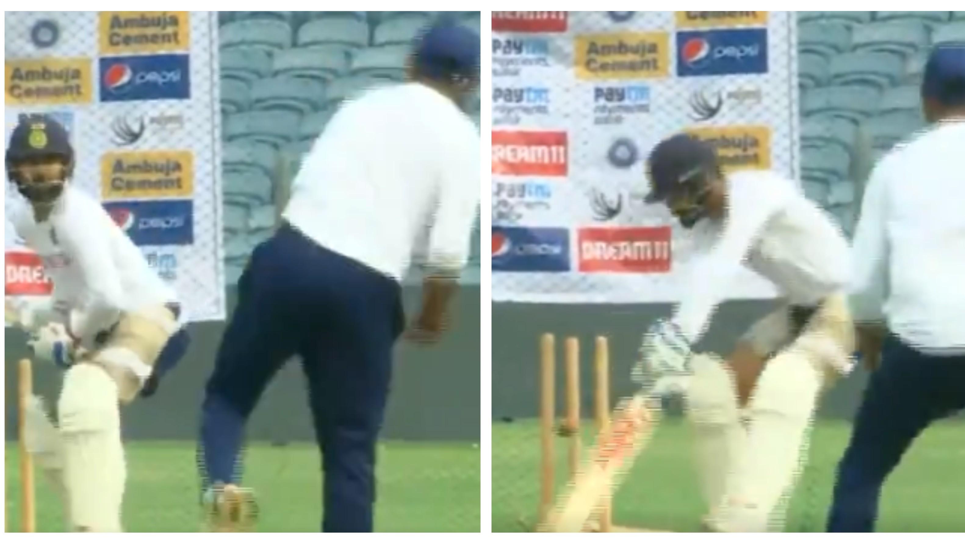 IND v SA 2019: WATCH – Ravindra Jadeja outsmarts Virat Kohli at the nets ahead of Pune Test