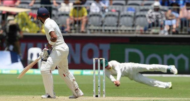 Peter Handscomb's catch of Virat Kohli and the use of DRS came under criticism   AP