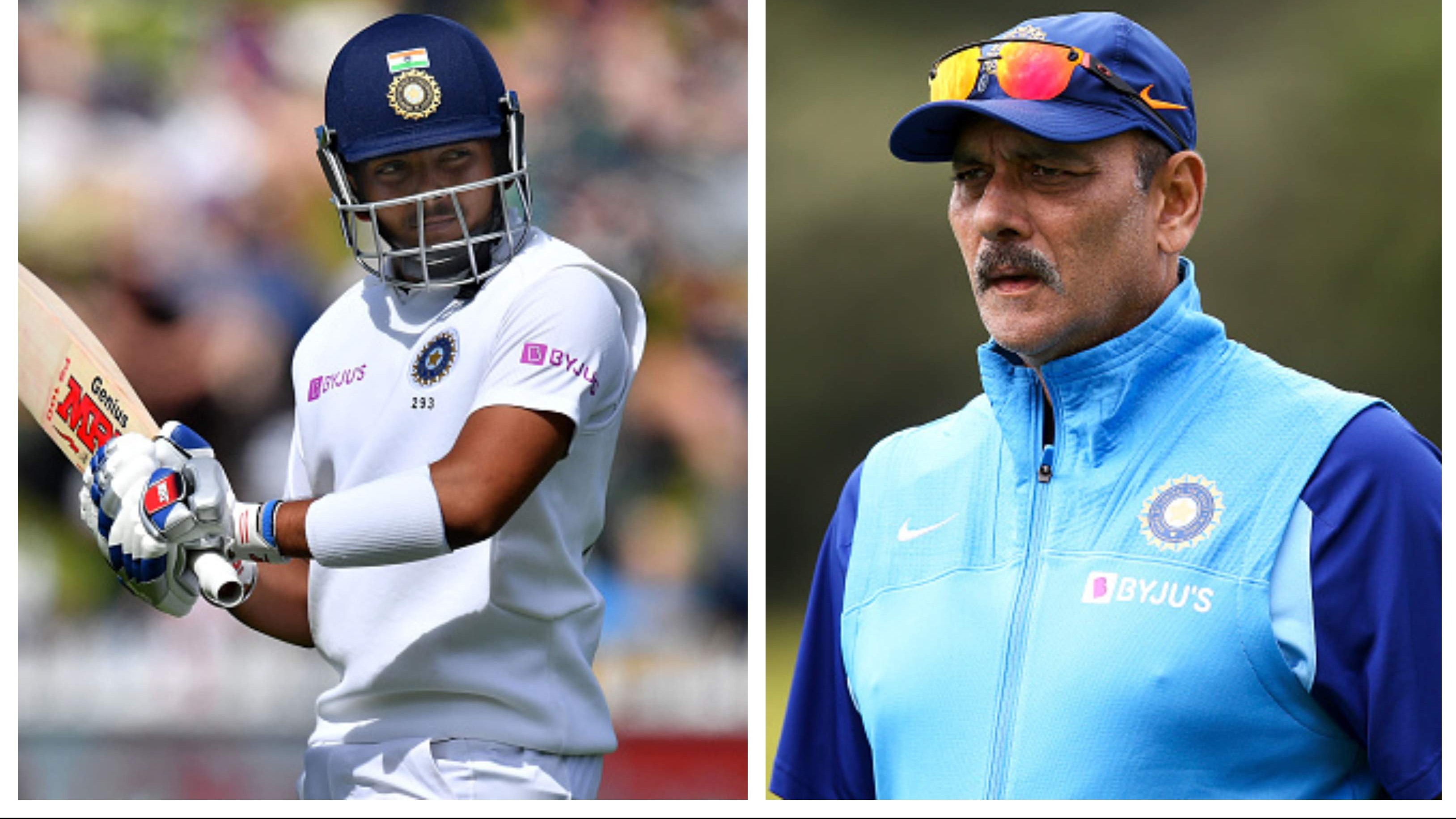 NZ v IND 2020: Ravi Shastri shares update on Prithvi Shaw's foot injury