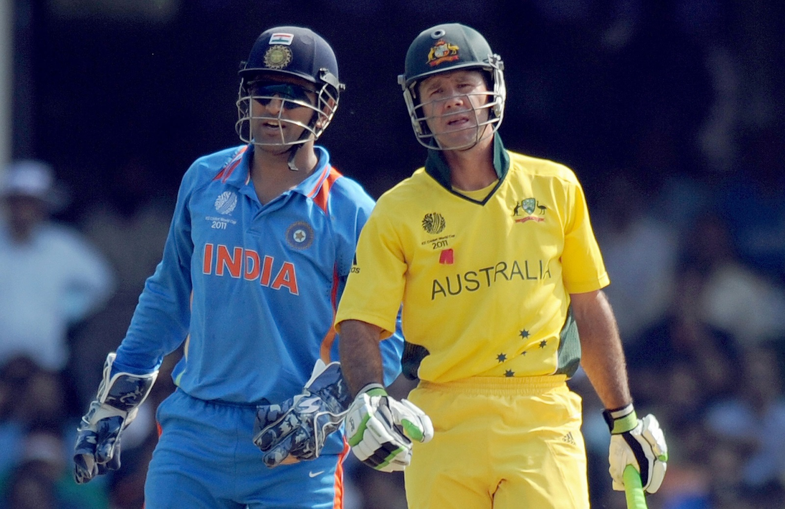 MS Dhoni and Ricky Ponting | Getty