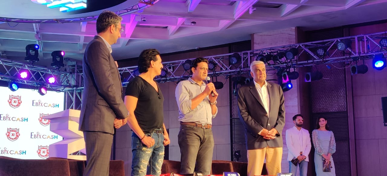 KXIP head coach Anil Kumble at an event in Delhi