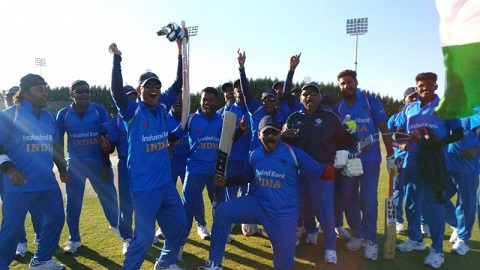 Indian Team celebrates World Cup triumph over Pakistan | AFP
