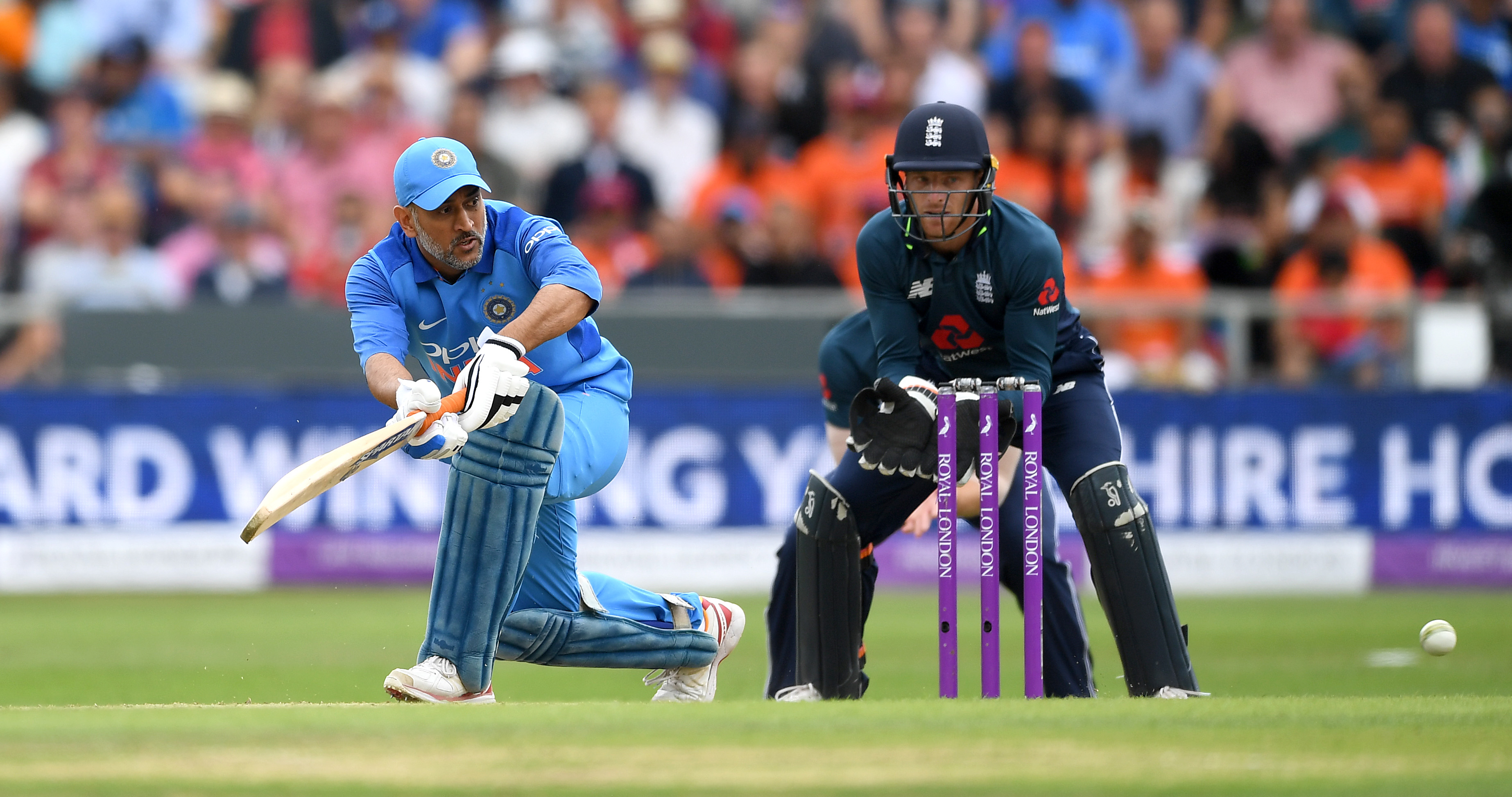 MS Dhoni struggled to get going with the bat in the ODI series. (Getty)