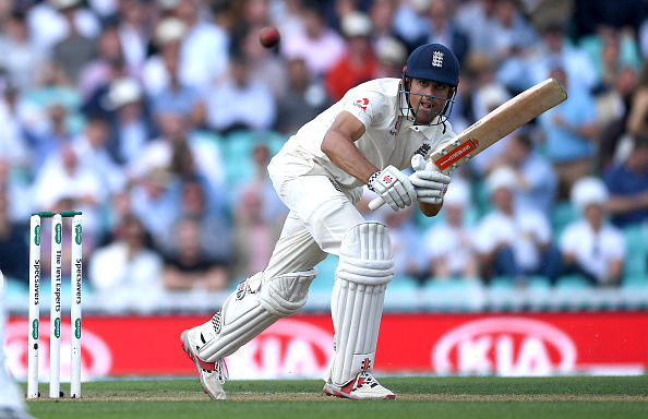 Alastair Cook scored a well made 71 before playing on his stumps off Bumrah | Getty