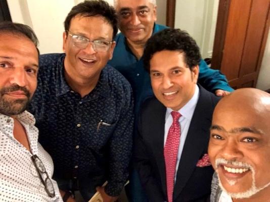 Vinod Kambli with Sachin Tendulkar   Twitter