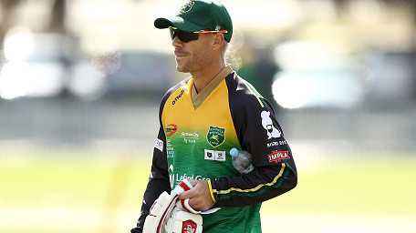 David Warner walks off after being sledged in Australian Grade Cricket match