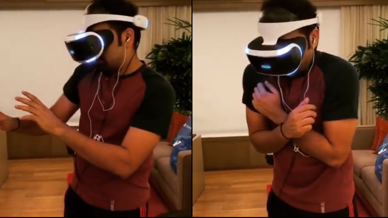 WATCH: Rohit Sharma gets into virtual world ahead of Asia Cup 2018