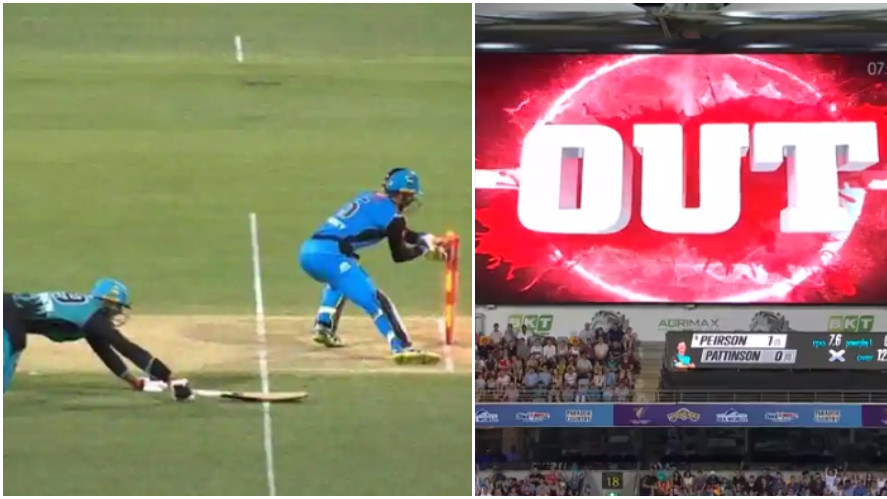 BBL 2018-19: WATCH- Adelaide Strikers' skipper calls back Brisbane Heat batsman after third umpire's error