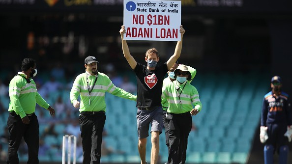 AUS v IND 2020-21: WATCH – 'No $1B Adani Loan', protesters disrupt first ODI in Sydney
