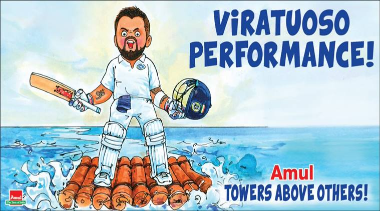 Virat Kohli cartoon | Amul