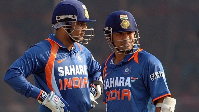 Virender Sehwag says he learnt the art of straight drive by watching Sachin Tendulkar on television