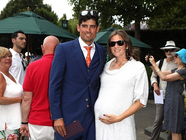 Alastair Cook with wife Alice | PA Images
