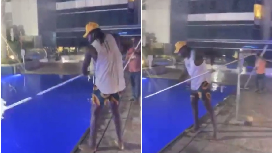 WATCH: Chris Gayle cleans pool in Dubai, says he used to do it for living once