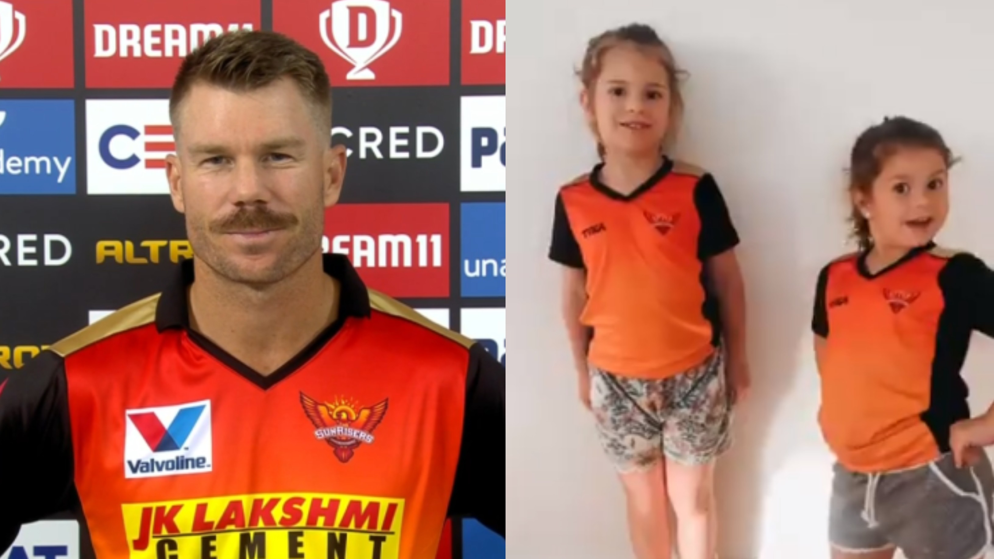 IPL 2020: WATCH - David Warner's daughters wish SRH all the luck for Eliminator against RCB
