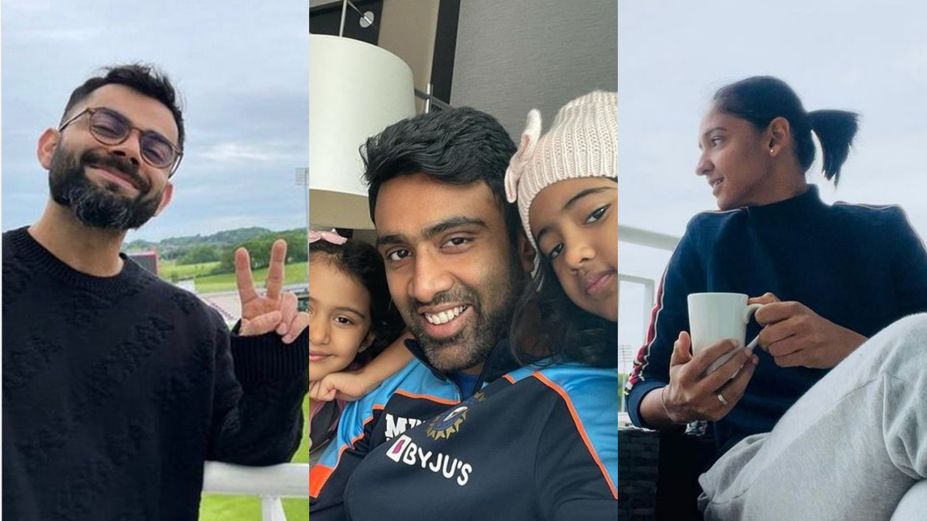 PICS- Virat Kohli, Harmanpreet Kaur, R Ashwin and others share photos while quarantining in Southampton
