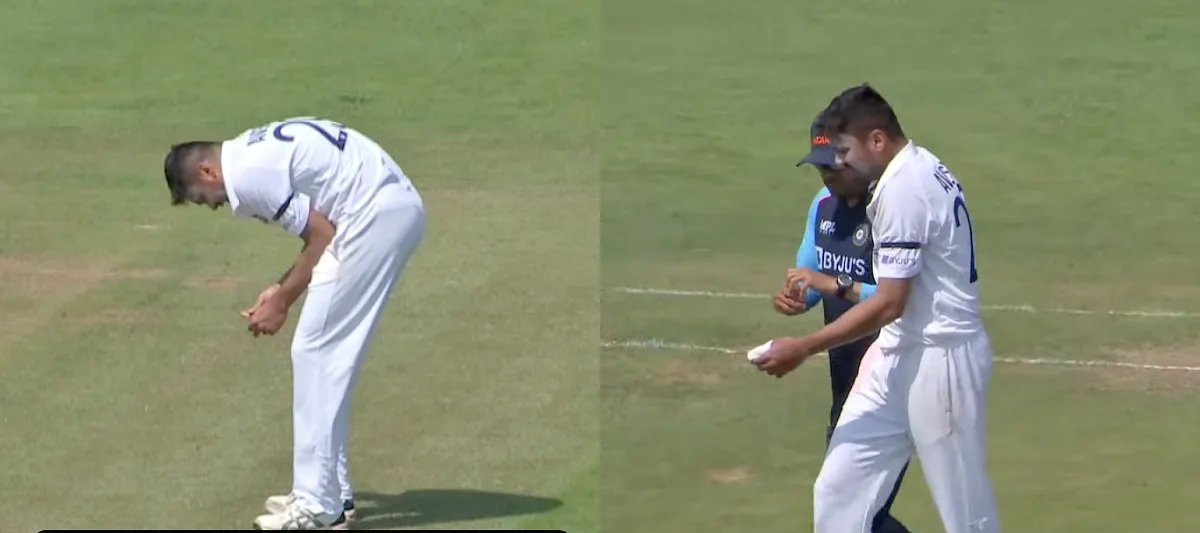 Avesh Khan was hit on his left hand while bowling for Select County XI against Indians | YouTube