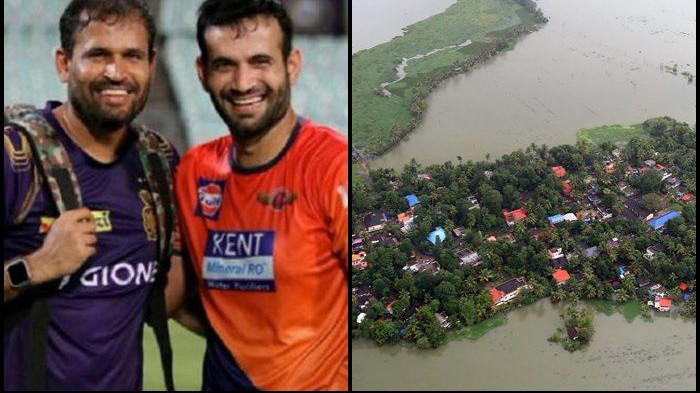 Pathan brothers do their bit for Kerala flood victims