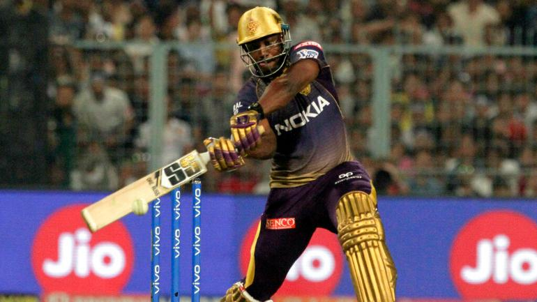 Andre Russell going for a big hit | IANS