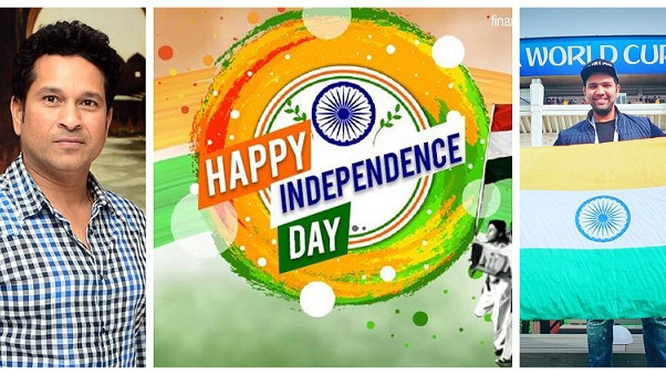 Indian cricketers wishes the nation on occasion of Independence Day 2018