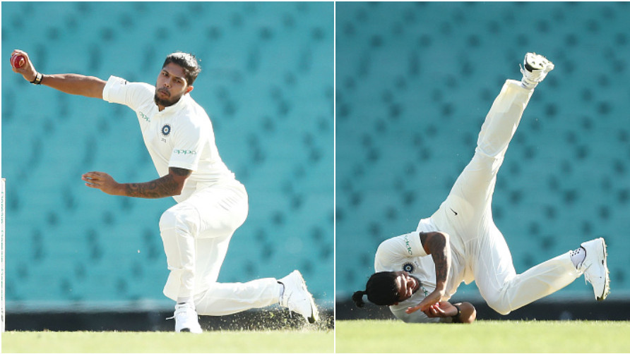 AUS v IND 2018-19: WATCH- Umesh Yadav slips in his run-up, survives an injury