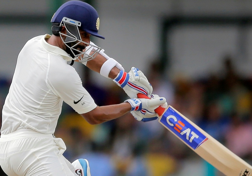 Rahane made a crucial 48 in India's second innings | AFP