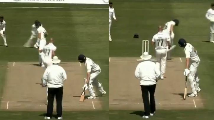 WATCH: Leicestershire given 5-run penalty after bowler hurls ball dangerously towards batsman
