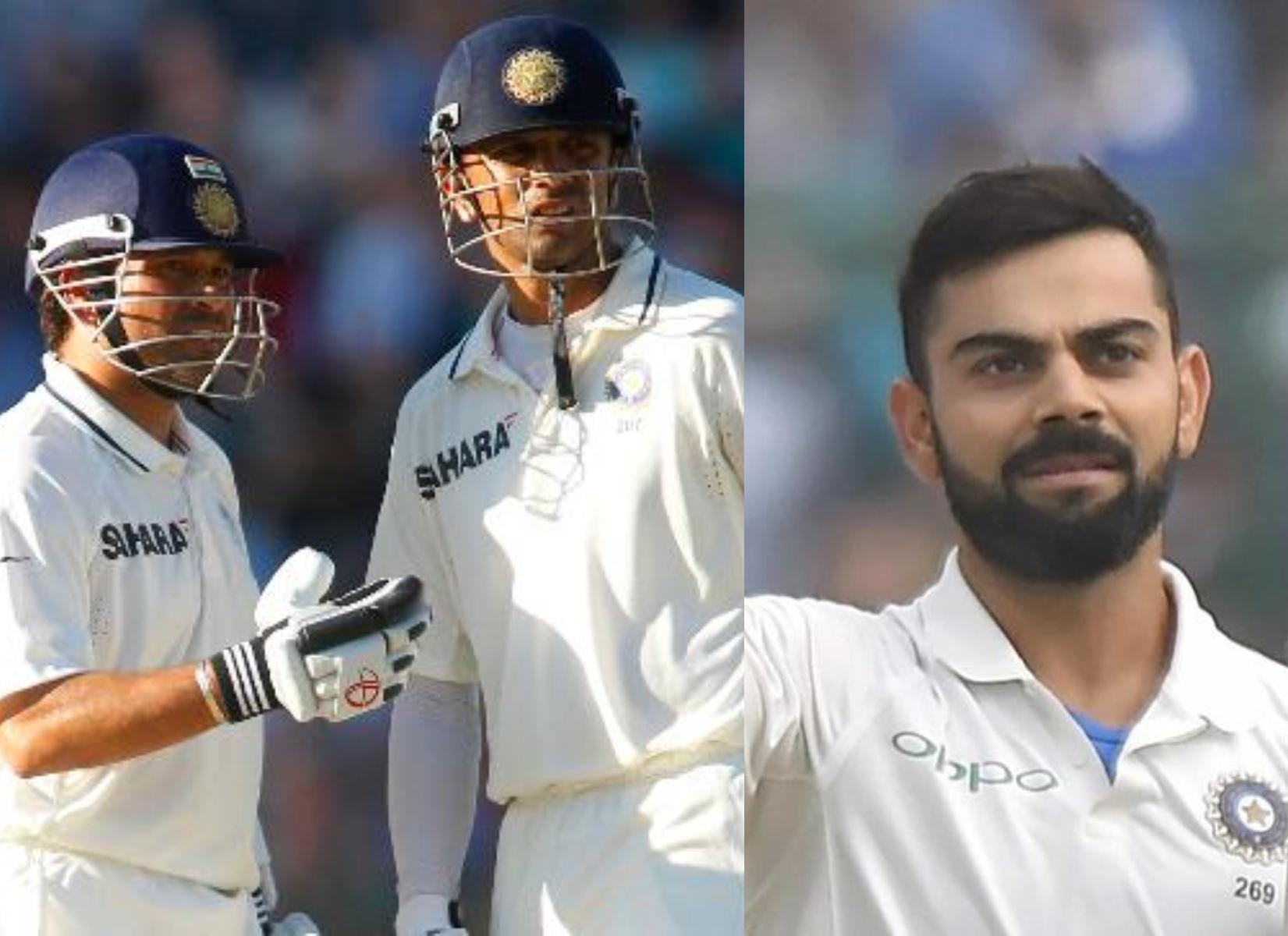 Sachin Tendulkar, Rahul Dravid and Virat Kohli