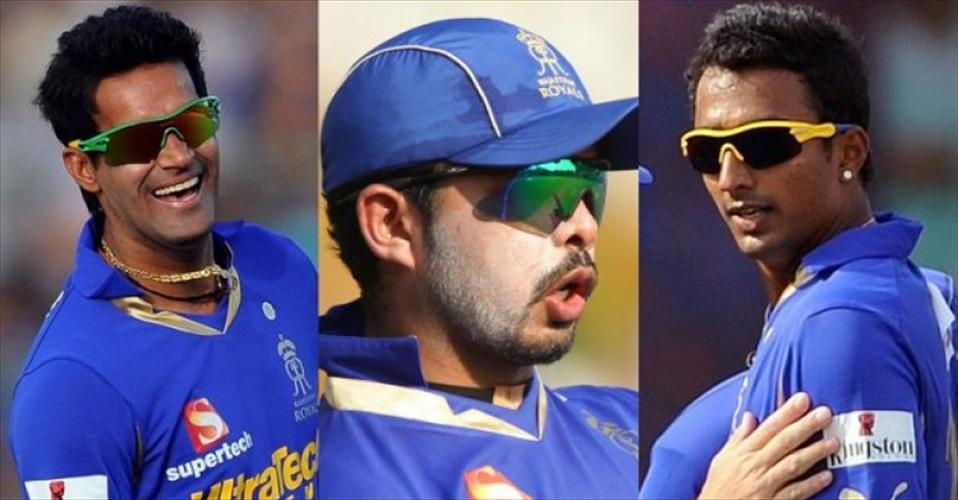 S Sreesanth, Ankeet Chavan and Ajit Chandila - the three cricketers accused of spot fixing