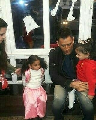 Watch – MS Dhoni converses with friends of daughter Ziva at her first annual school function