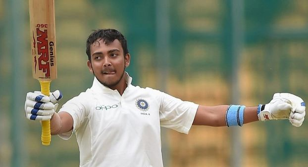 Prithvi Shaw was Kartik's pick as opener in Australia | AFP