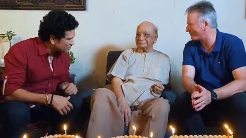 WATCH: Tendulkar, Waugh celebrate 100th birthday of India's oldest living first-class player