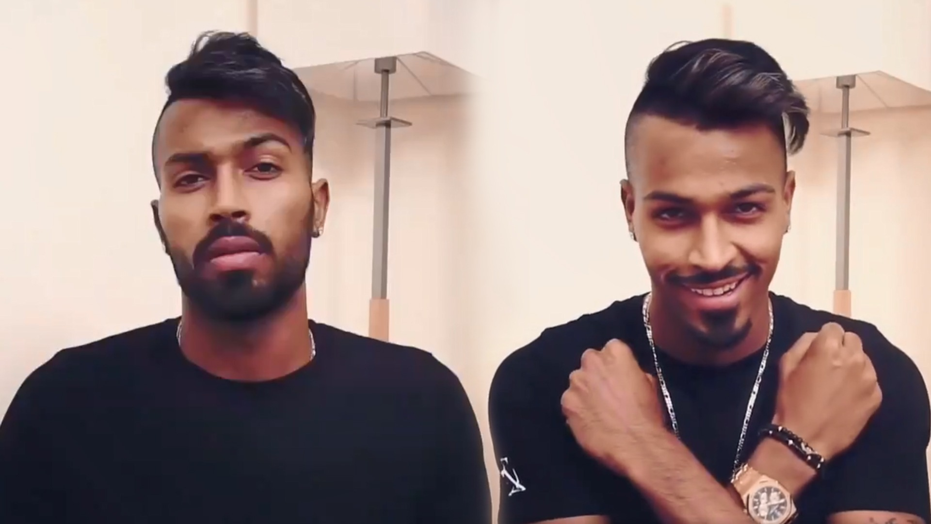 WATCH: Hardik Pandya joins 'Break The Beard' trend following his brother Krunal Pandya