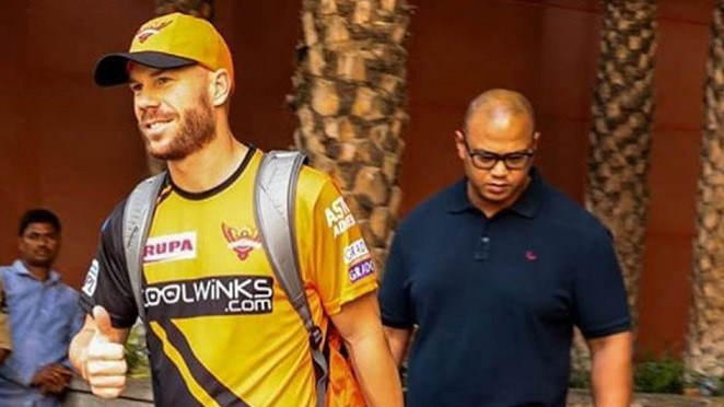 IPL 2019: David Warner shares an emotional message for his SRH family after landing in Hyderabad