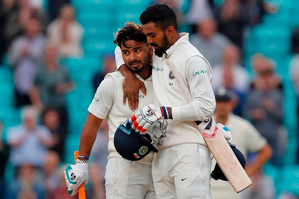 KL Rahul (149) and Rishabh Pant (114) added 204 runs for the 6th wicket against England at The Oval (Photo - getty)