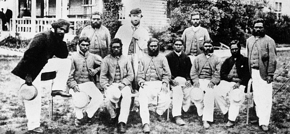 The first aboriginal team to travel overseas   Getty