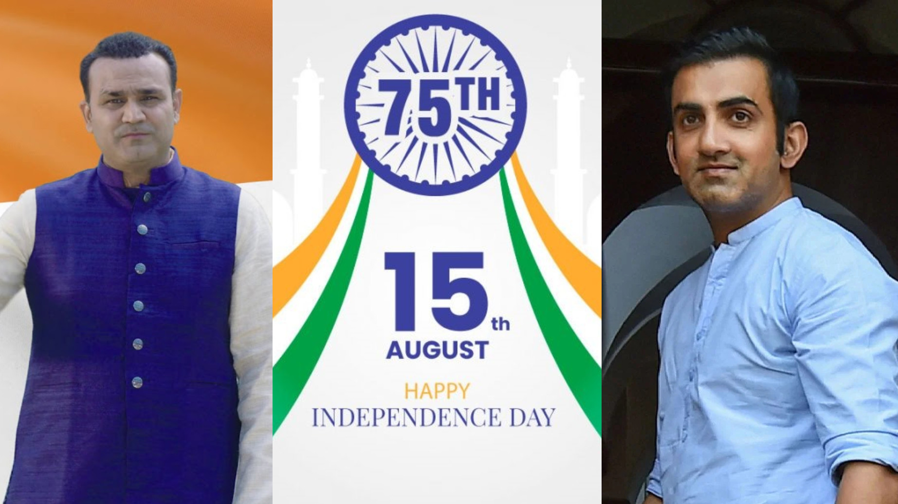 Saare Jahan se Accha- Gambhir, Sehwag and Indian cricketers celebrate 75th Independence Day