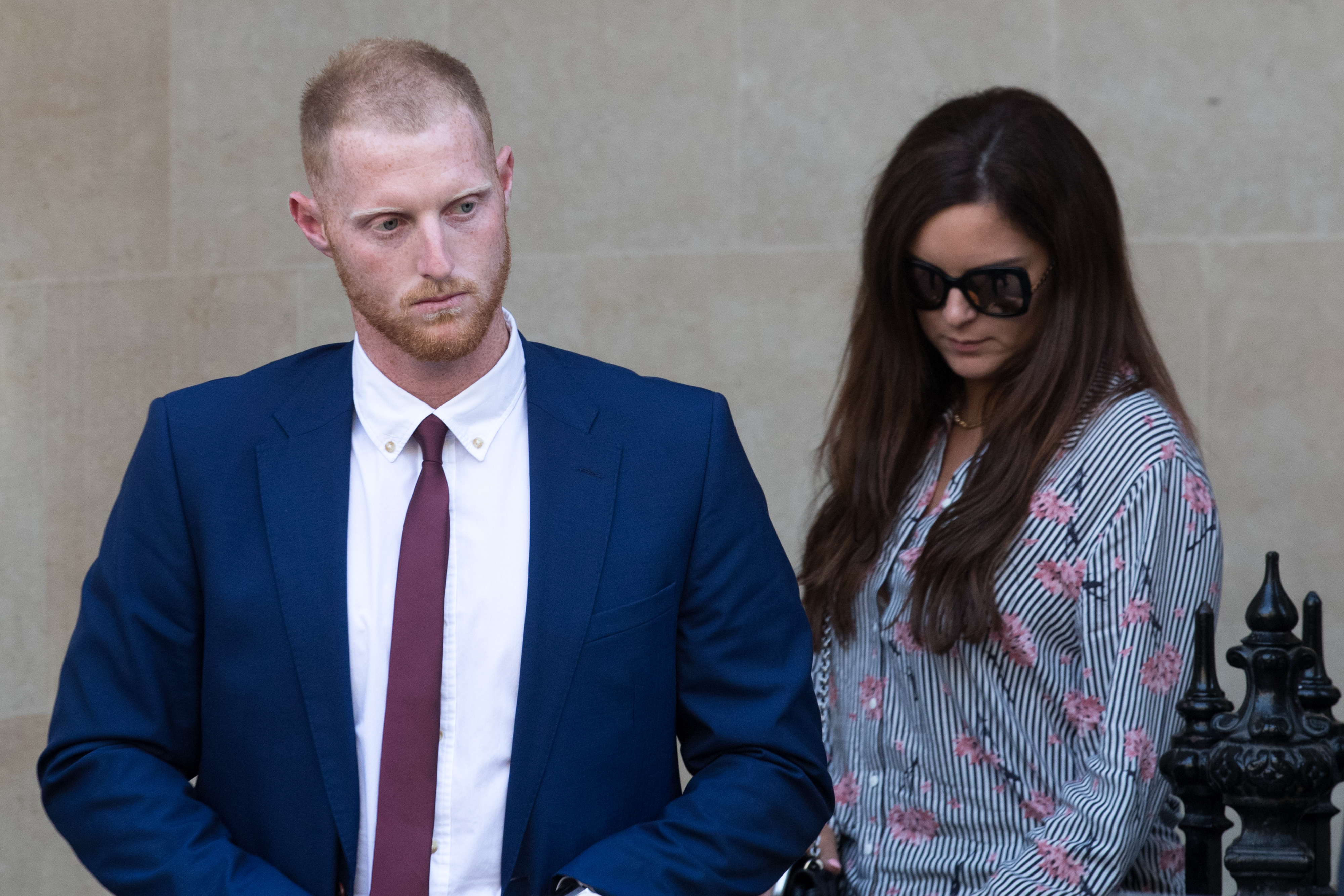 Ben Stokes leaves Bristol Crown Court on Monday | Getty