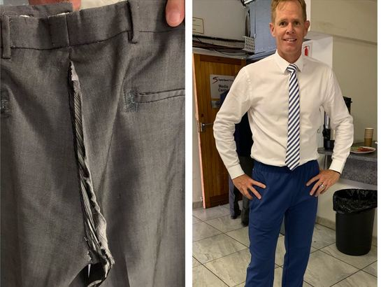 Poolock made a mess of his pants | Shaun Pollock Twitter