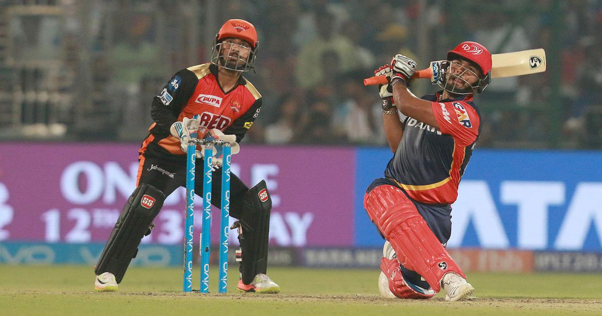 Pant hit 15 fours and 7 sixes in his innings of 128* against SRH in IPL 2018 | AFP